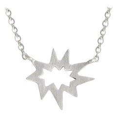 Silver Stellina Nova Star Necklace