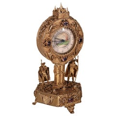 Silver Table Clock, 19th-20th Century