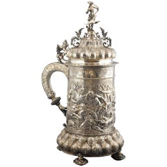 "Silver Tankard ""Commodore Cup"" Trophy from Dover, English Import"