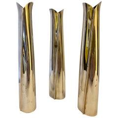 Silver Tapio Wirkkala Vases 3pcs.