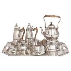 Silver Tea and Coffee Set with Matching Tray