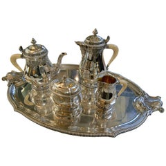Silver Tea / Coffee Set 4 Pieces and tray