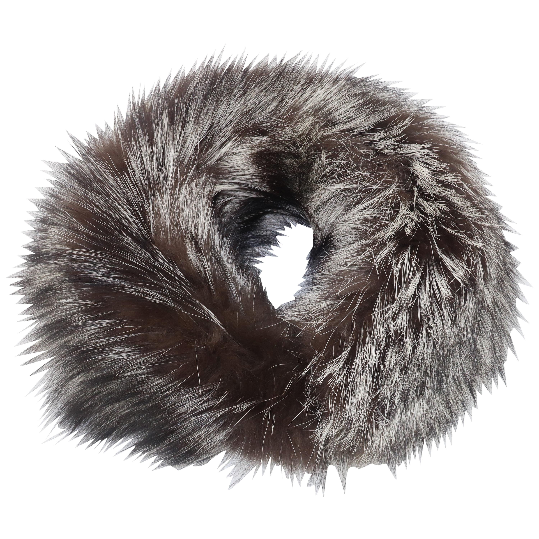 Silver Tip Fox Fur Collar, 1990's