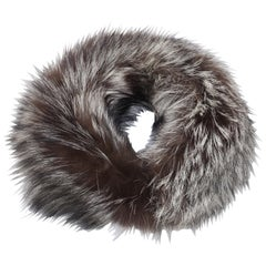 Silver Tip Fox Fur Collar, 1990's