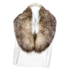 Silver Tipped Full Fox Stole/Collar