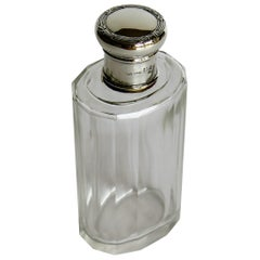 Silver Topped Cologne or Perfume Bottle or Jar Art Nouveau, circa 1890