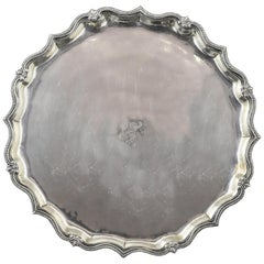 Silver Tray. Blas De Amate, Seville, Spain, Mid-18th Century, with Hallmarks