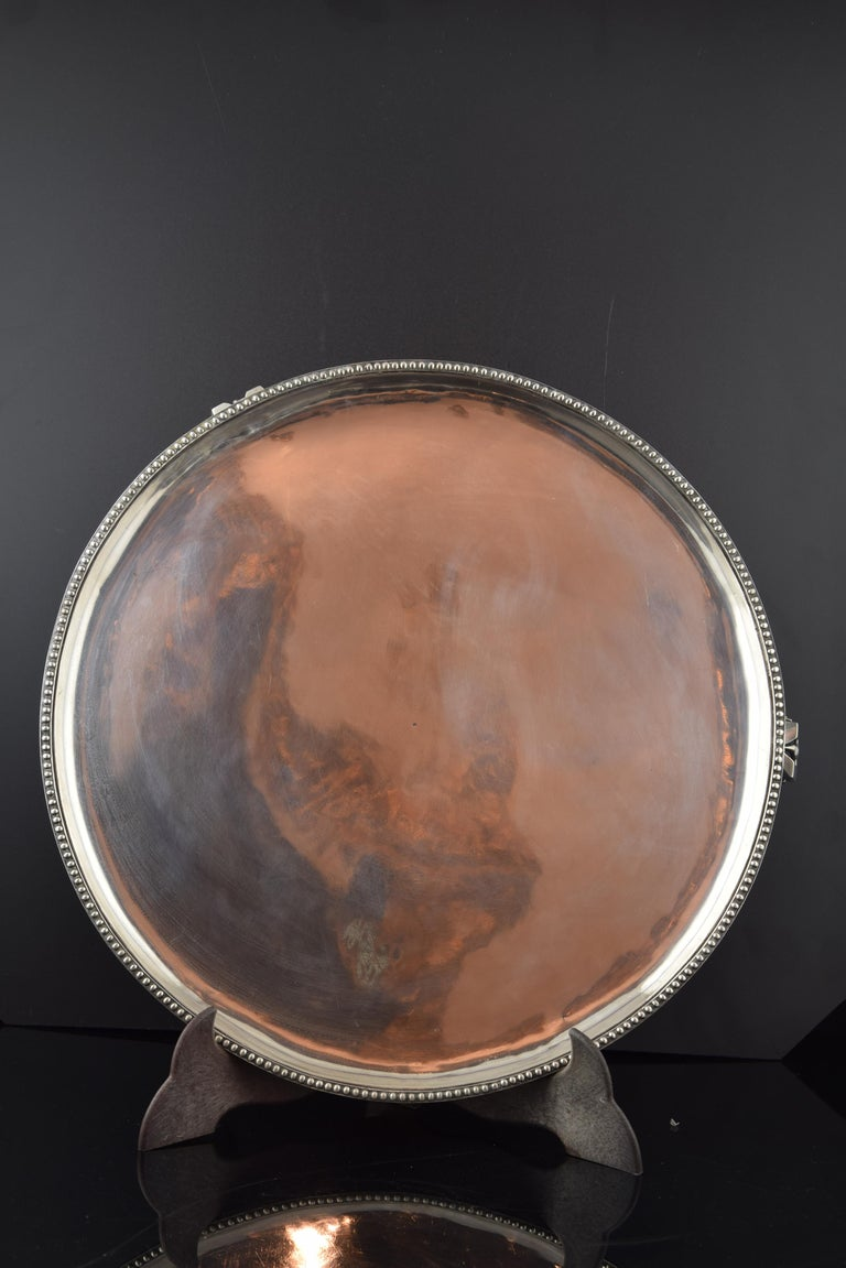 Neoclassical Silver Tray, Sola, Barcelona, Spain, 18th Century For Sale
