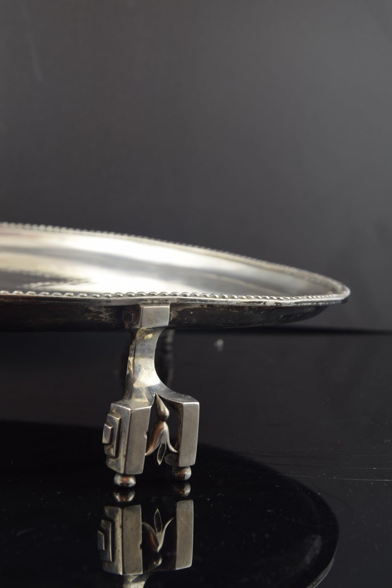 19th Century Silver Tray, Sola, Barcelona, Spain, 18th Century For Sale