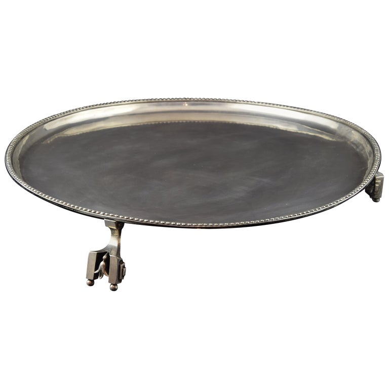 Silver Tray, Sola, Barcelona, Spain, 18th Century For Sale
