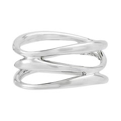 Silver Triple Vaiven Ring, size: 75