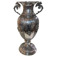 Silver Vase with Renaissance Style with Handles