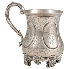 Silver Victorian Mug by George J. R. and E. C. Brown, England, Mid-19th Century
