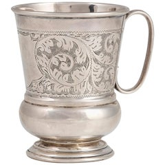 Silver Victorian Mug by James and Gilby Hobson, England, 1925