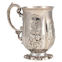 Silver Victorian Mug by John Le Gallais, Mid-19th Century