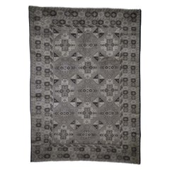 Silver Wash Afghan Baluch Pure Wool Hand Knotted Oriental Rug