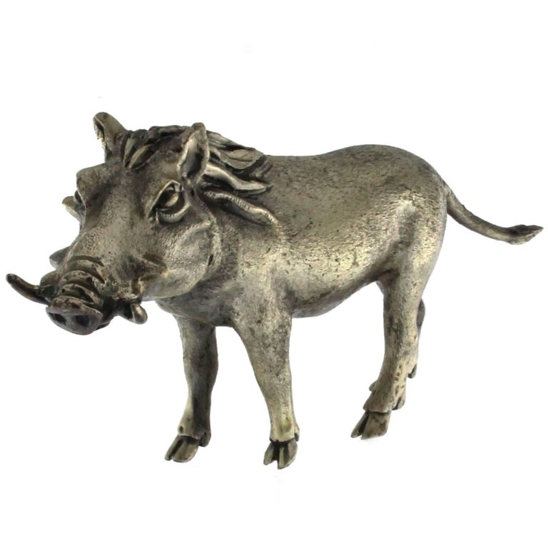 Silver Wild Boar handicraft