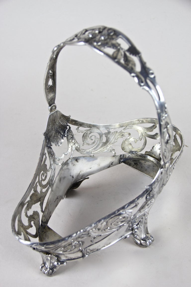 Silvered Art Nouveau Centerpiece by J.P Kayser, Germany, circa 1910 For Sale 4