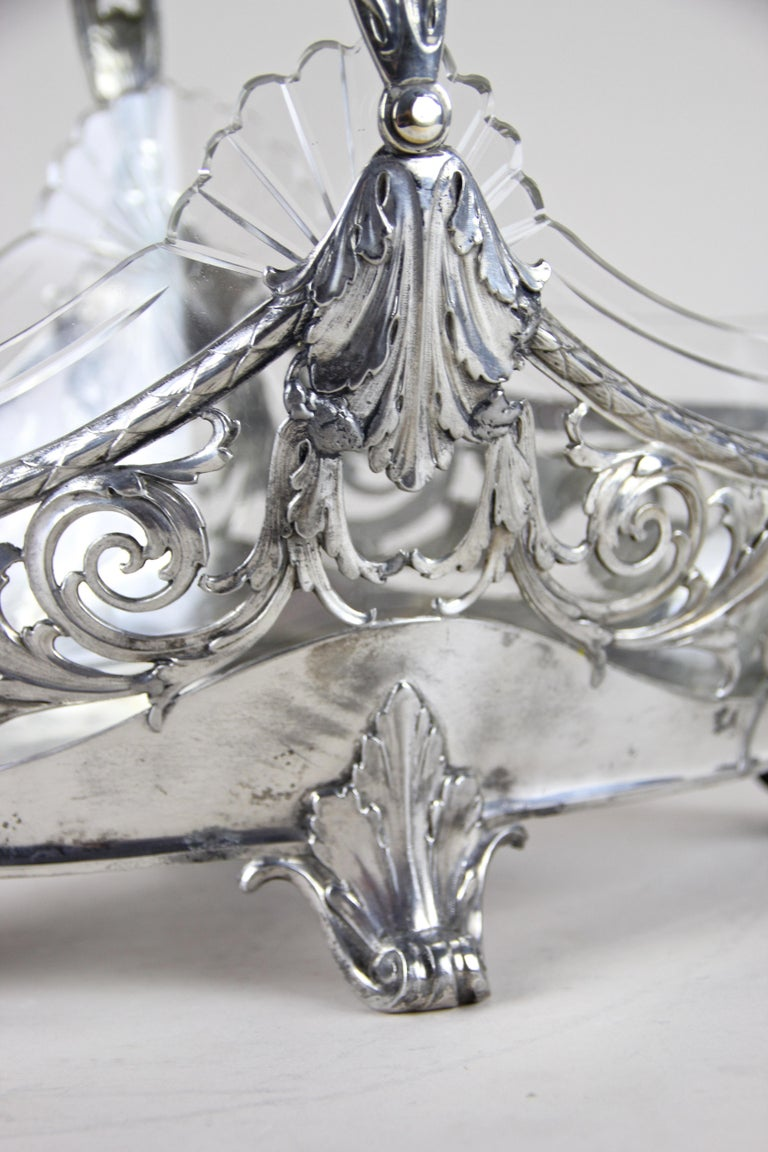 Silvered Art Nouveau Centerpiece by J.P Kayser, Germany, circa 1910 For Sale 5