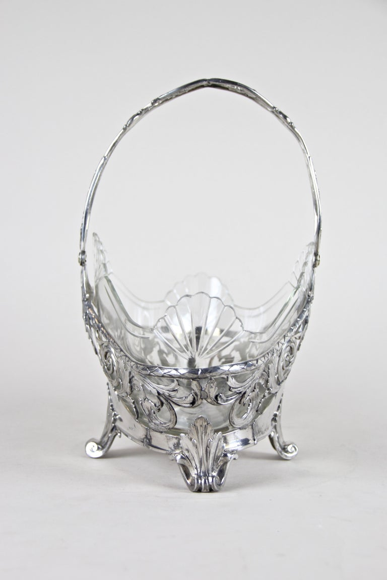 Austrian Silvered Art Nouveau Centerpiece by J.P Kayser, Germany, circa 1910 For Sale