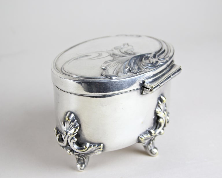 Silvered Brass Box by Moritz Hacker, Austria, circa 1900 For Sale 5