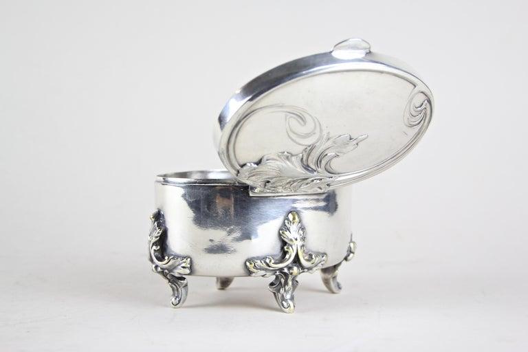 Silvered Brass Box by Moritz Hacker, Austria, circa 1900 For Sale 6