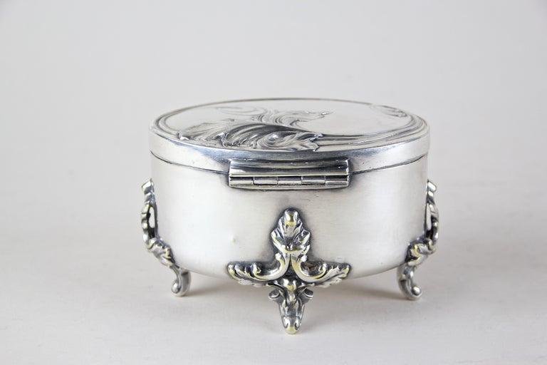 Austrian Silvered Brass Box by Moritz Hacker, Austria, circa 1900 For Sale
