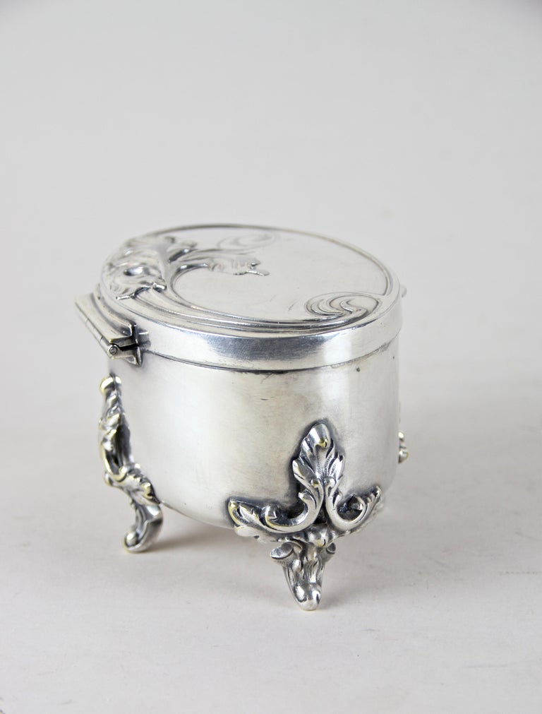 Silvered Brass Box by Moritz Hacker, Austria, circa 1900 In Good Condition For Sale In Linz , AT