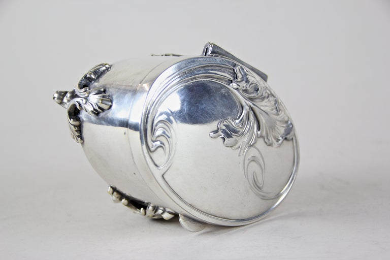 Silvered Brass Box by Moritz Hacker, Austria, circa 1900 For Sale 3