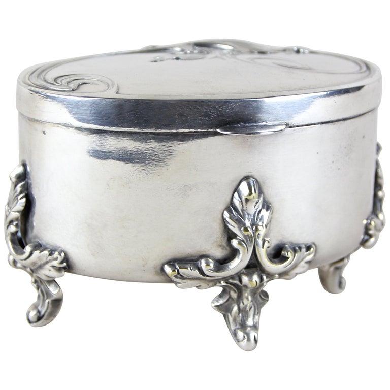 Silvered Brass Box by Moritz Hacker, Austria, circa 1900 For Sale