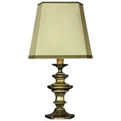 Silvered Brass Flemish Lamp, circa 1800