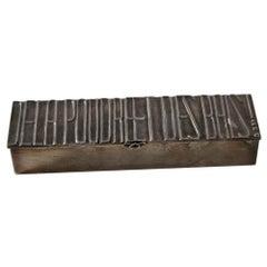 """Silvered Bronze Box """"De la poudre et des bals !"""""""