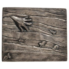 "Silvered Bronze Box ""La Main Aux Poissons"""