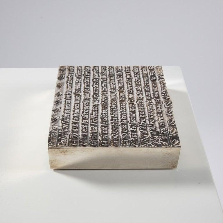 Mid-Century Modern Silvered Bronze Box