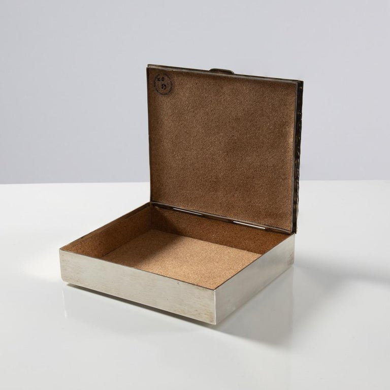 French Silvered Bronze Box