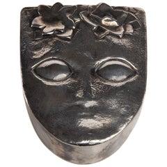 """Silvered Bronze Box """"Ophélie"""", Line Vautrin, France"""