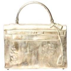 Silvered Bronze Christian Maas Birkin Bag Sculpture And Art Limited Edition