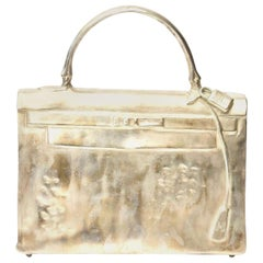 Silvered Bronze Christian Maas Birkin Bag Sculpture & Art Limited Edition French
