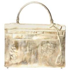 Silvered Bronze Christian Maas Birkin Bag Sculpture & Art Limited Edition French
