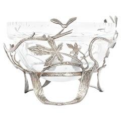 Silvered Bronze Glass Bowl
