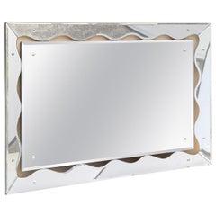 Silvered Mirror Mid-Century Modern