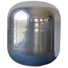Versilbert, Murano-Glas Cocoon Boden oder Tisch Lampe, Italien, der 2000er Jahre
