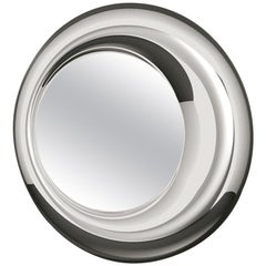 Silvered Pearl Round Mirror