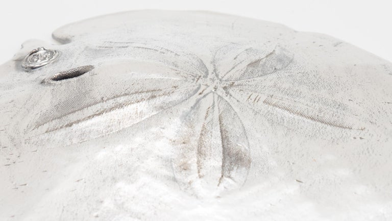 Italian Silvered Sand Dollar Valentina Large