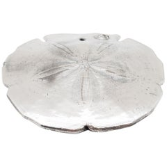 Silvered Sand Dollar Valentina Large