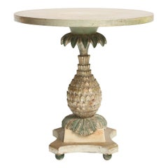 Silvergilt and Painted Italian Pineapple-Form Occasional Table