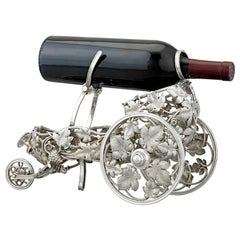 Silverplate Wine Trolley by Christofle