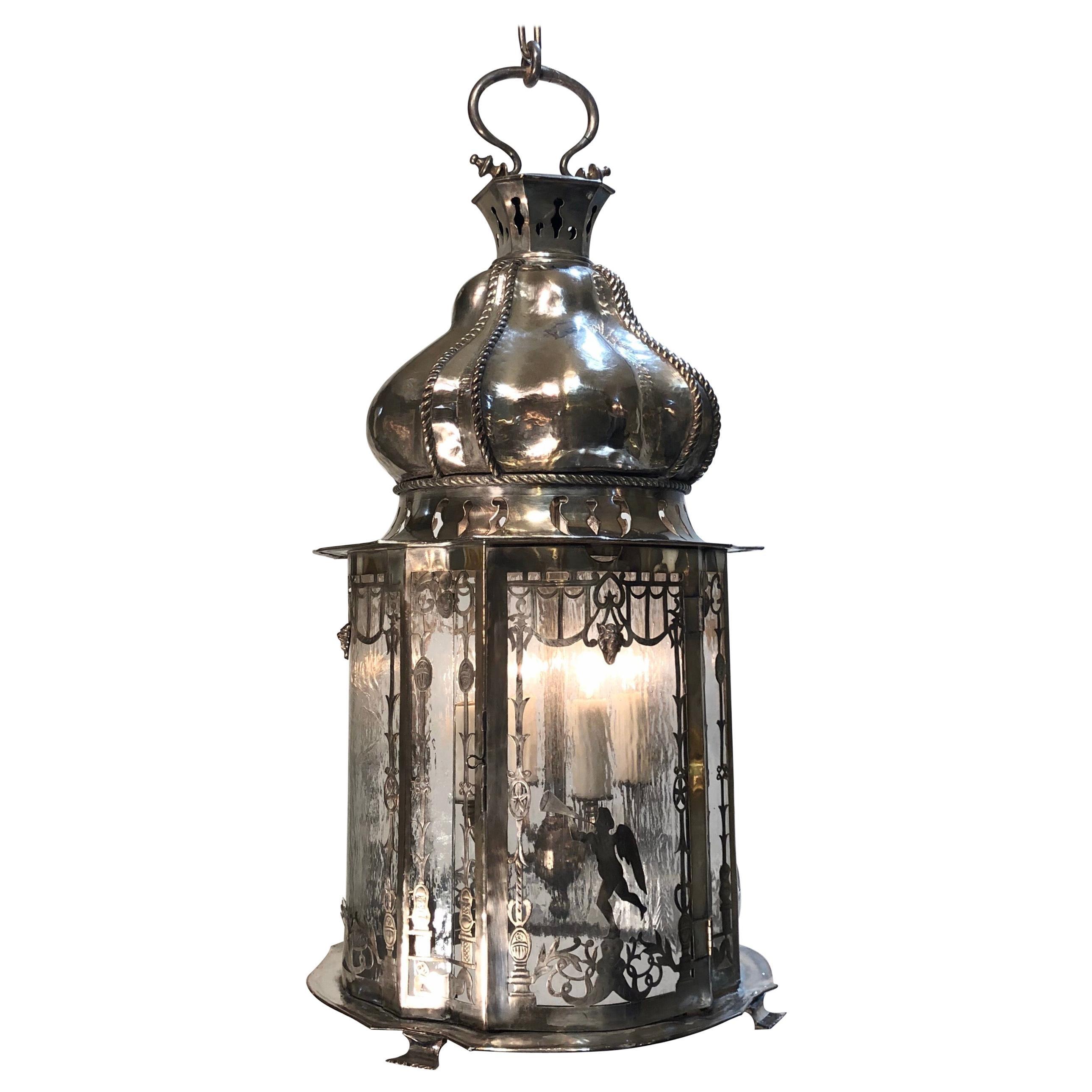 Silverplated Caldwell Lantern