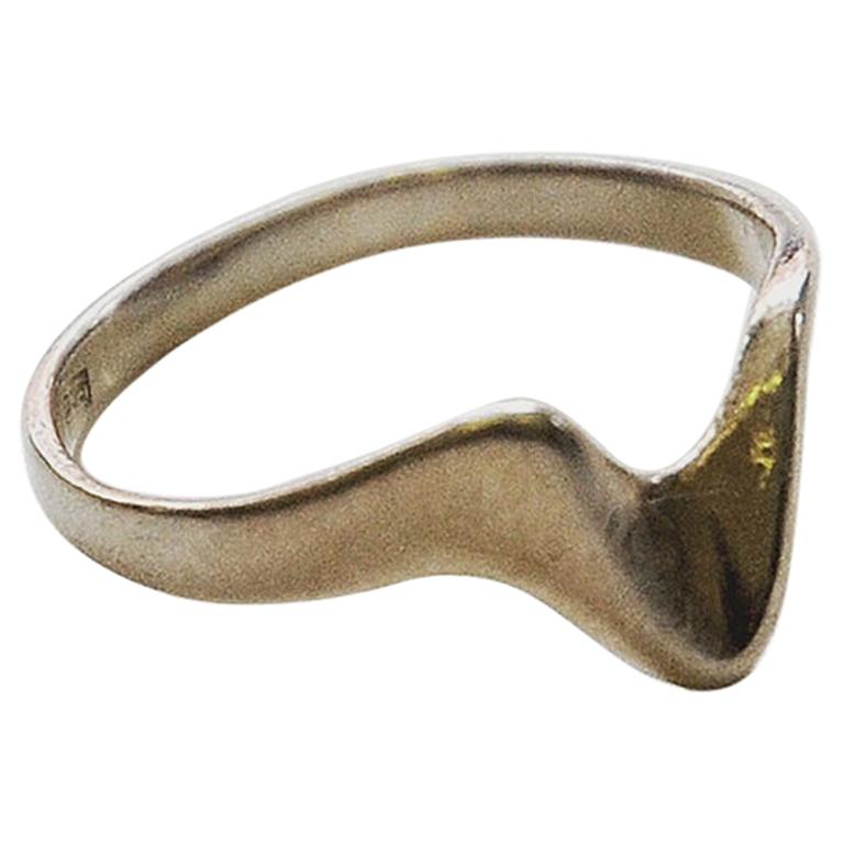 Silverring with a Hook 1950s-1960s Scandinavia