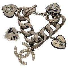 Chanel Silvertone Charm Bracelet